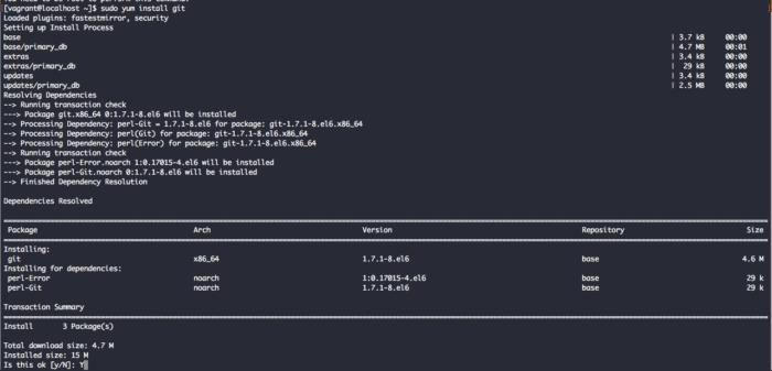 install git CentOS 6