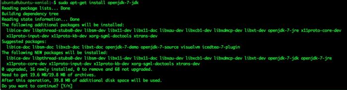 JDK 7 on Ubuntu 16.04
