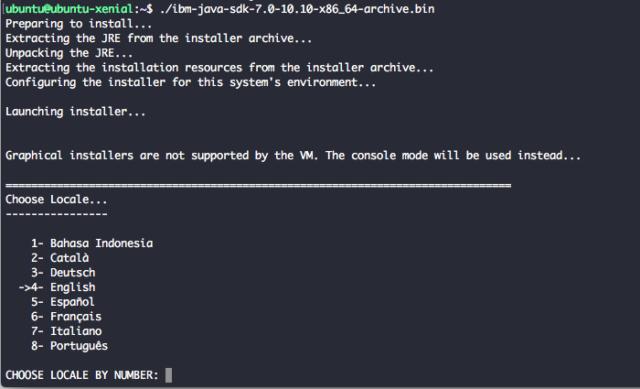 Install IBM Java 7 Ubuntu 16.04