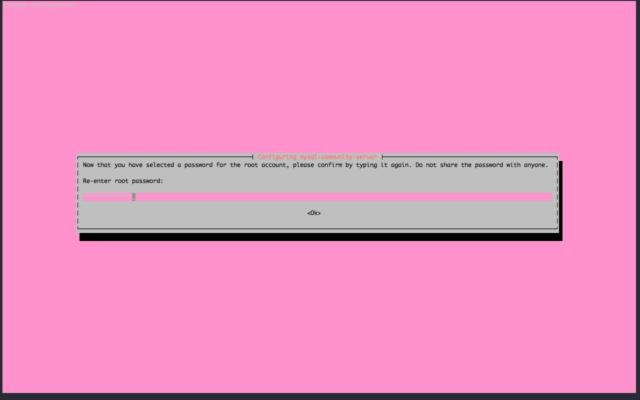 Install MySQL 8.0 on Ubuntu 16.04 - Reenter root password