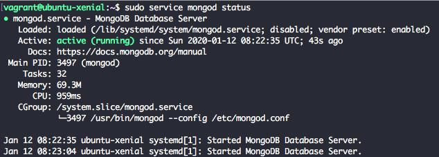 MongoDB 4.2 Check Service Status