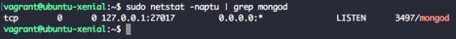 Check MongoDB 4.2 port listen with netstat