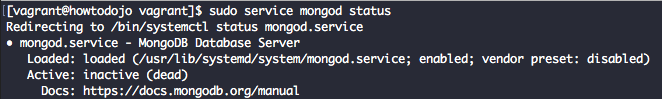 Check MongoDB service status in CentOS 7
