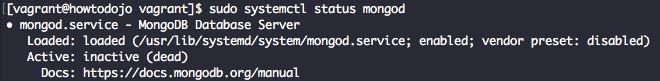 Check MongoDB 4.2 Service Status Using systemctl