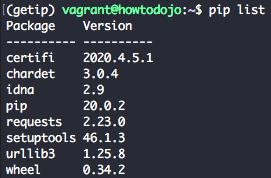 install virtualenv ubuntu 16.04 - list packages inside virtualenv