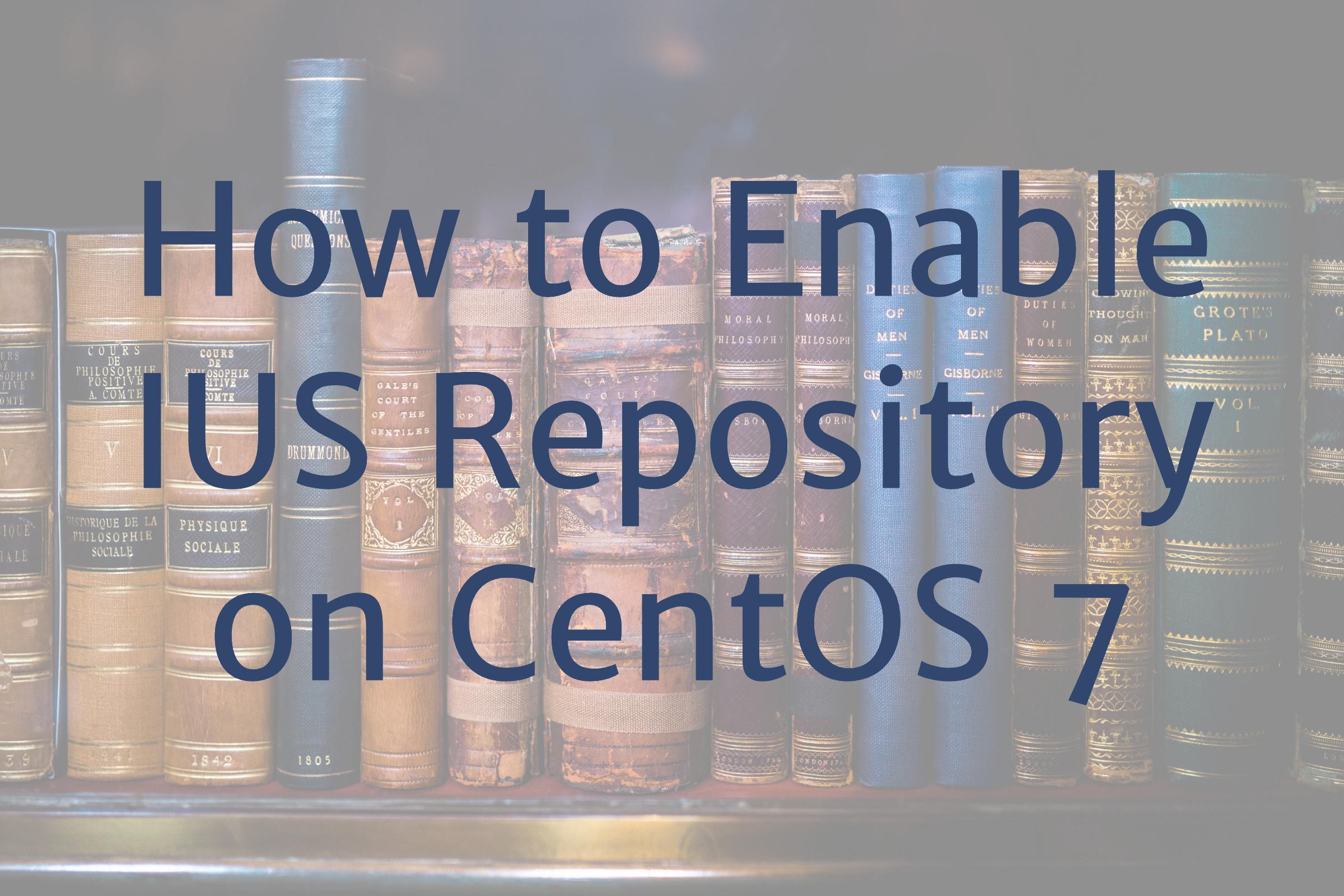 ius repository centos 7