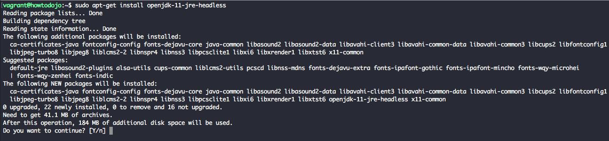 Install openjdk 11 ubuntu 18.04 - apt-get install openjdk-11-jre-headless