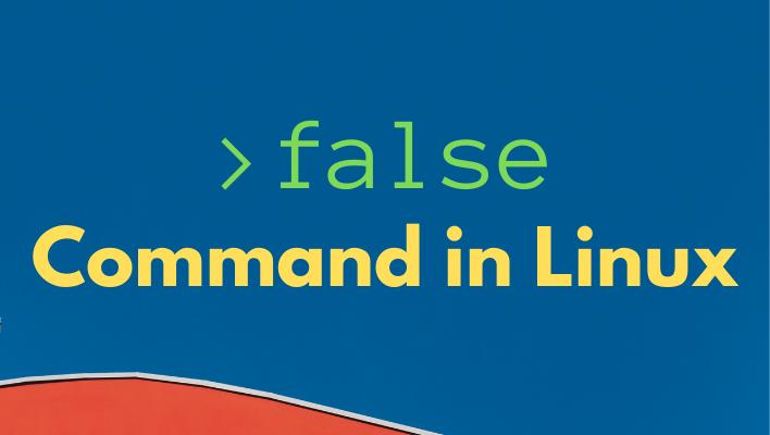 Linux false command
