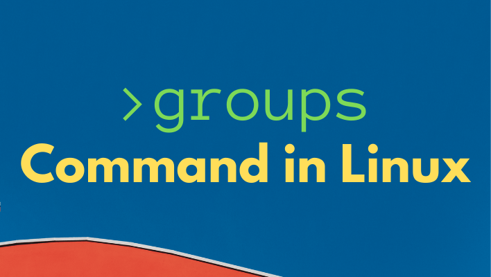 Linux groups command